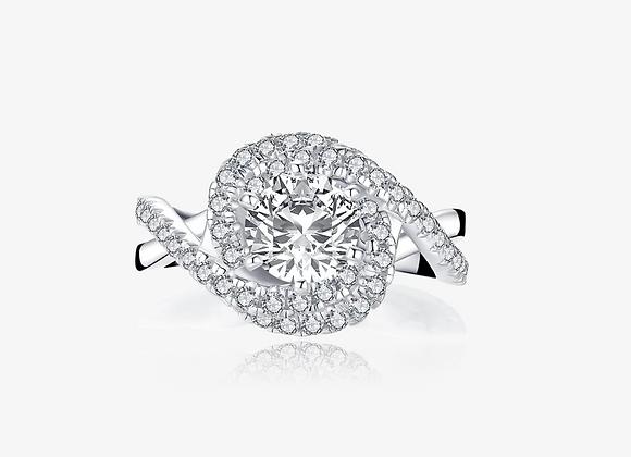 925 Sterling Silver Moissanite Ring