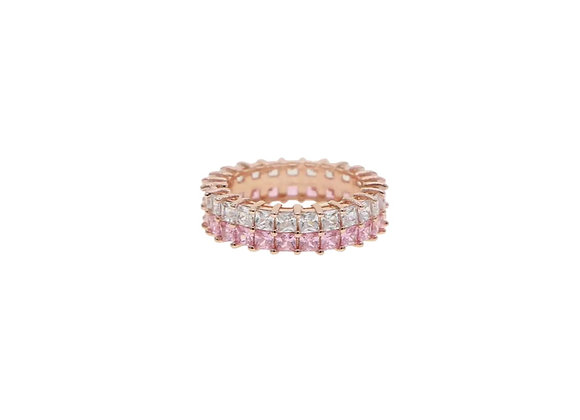 Rose Gold Double Stacked Eternity Ring
