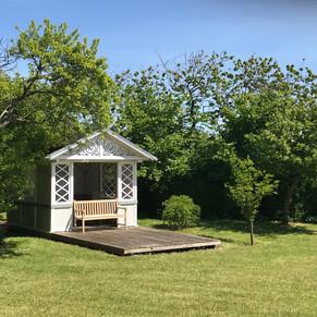 Das kleine Gartenhäuschen steht allen unseren Gästen zur Verfügung.