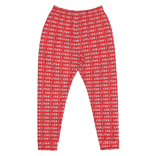 All-Over Print Joggers (Red)