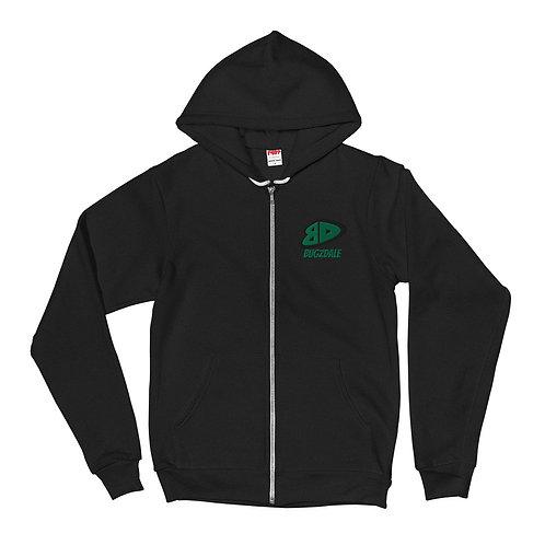 BD Green Zip up Hoodie