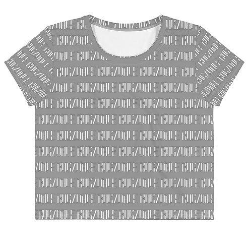 All-Over Print Crop Tee (Grey)
