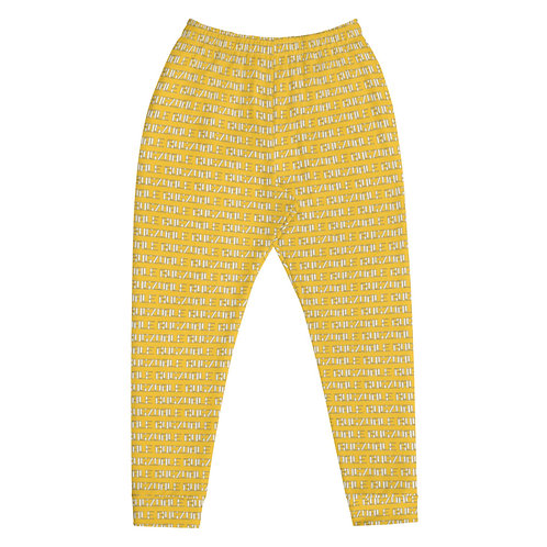 All-Over Print Joggers (Yellow)