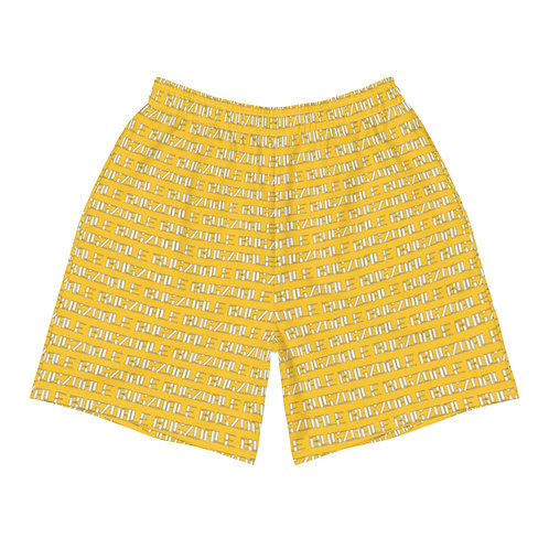 All-Over Print Men's Shorts (Yellow)