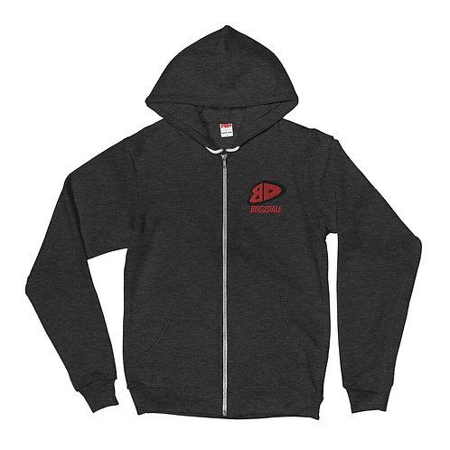 BD Red Zip up Hoodie