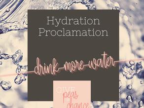 The Hydration Proclamation