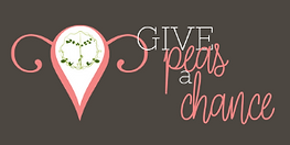 Give Peas a Chance Logo on Grey.png