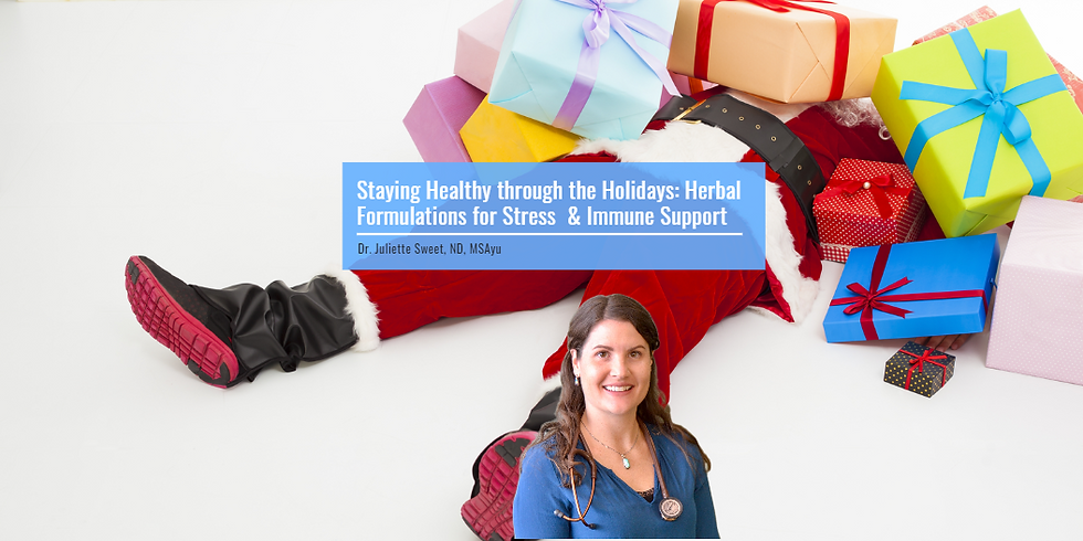 Staying Healthy through the Holidays: Herbal Formulations for Stress & Immune Support