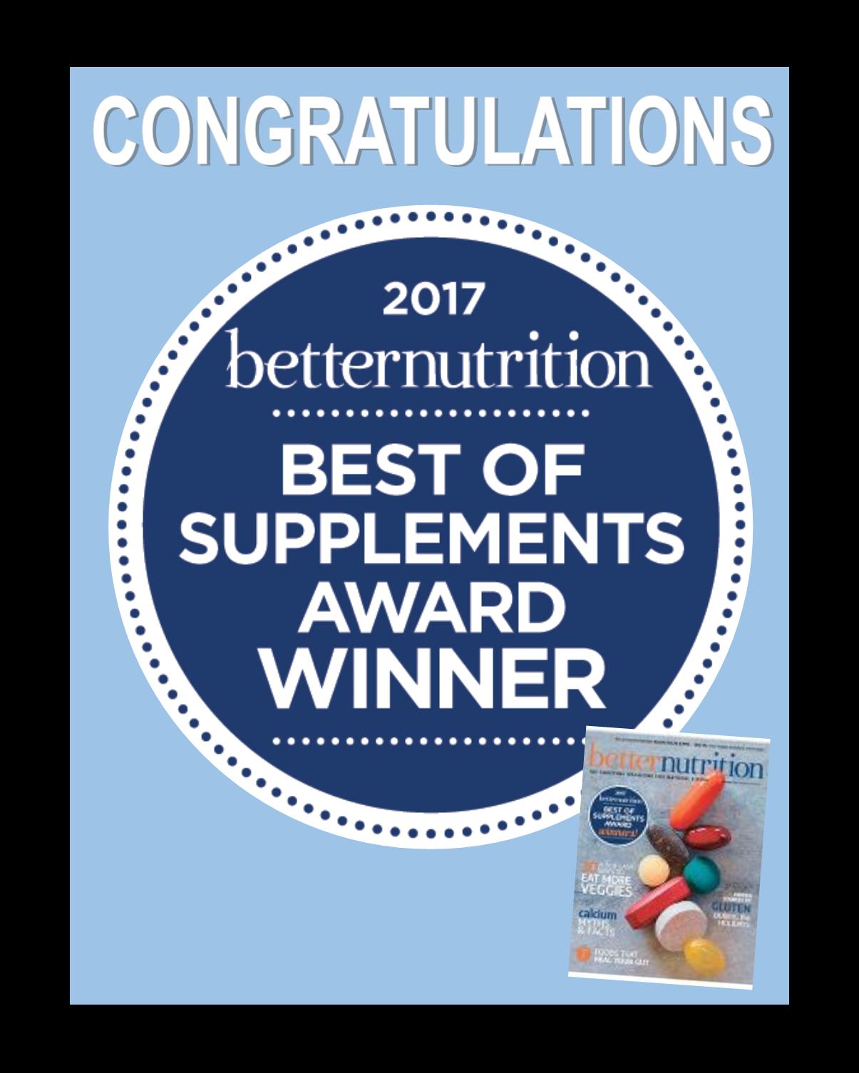 Best Supplement Award 2017