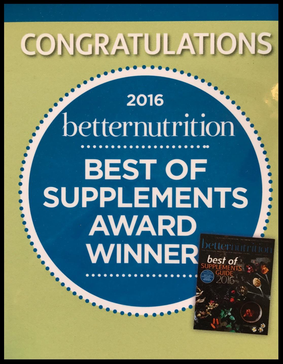 Best Supplement Award 2016