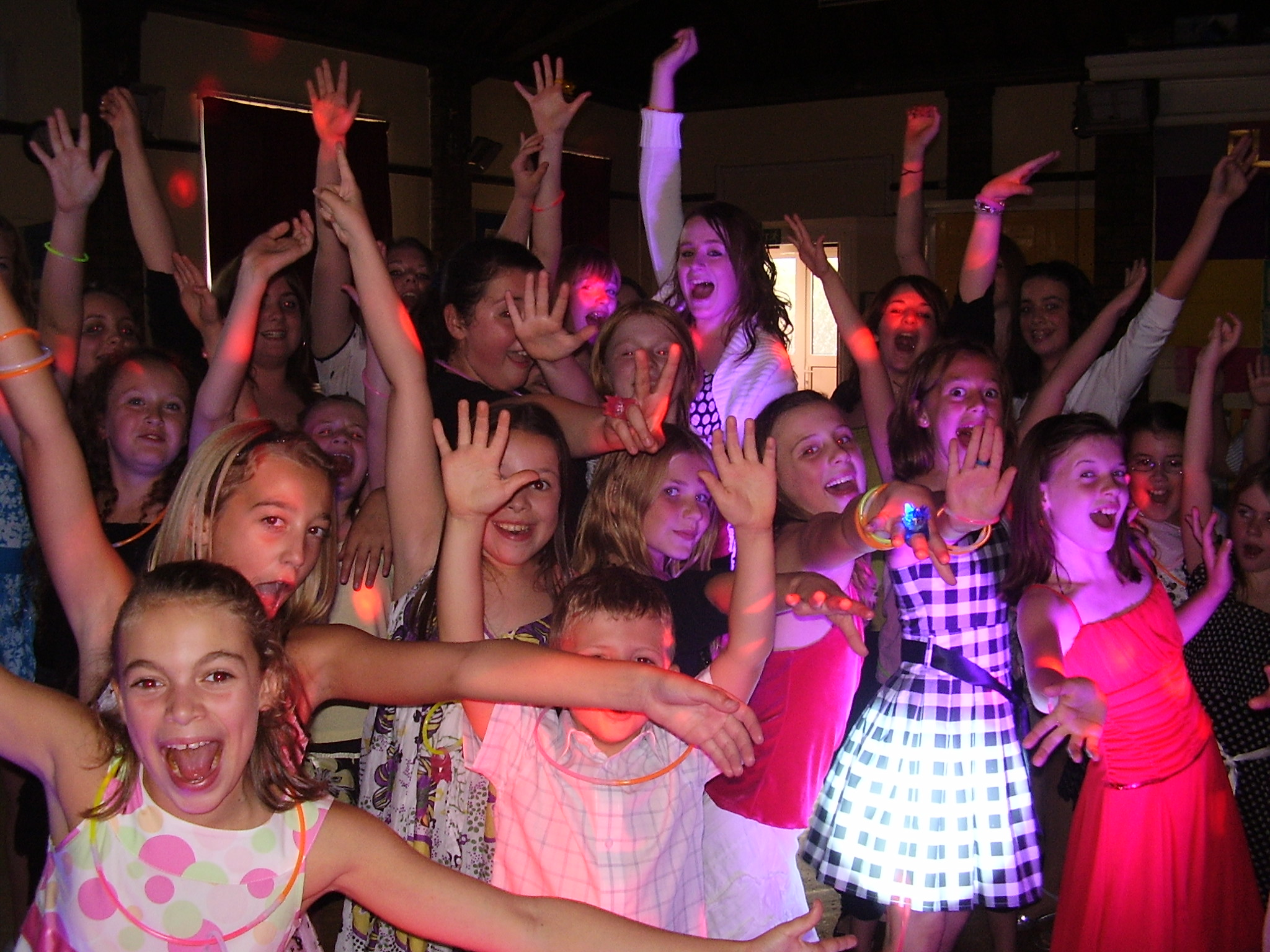 Our kids disco's are very popular