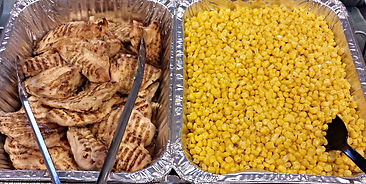 Marinated Grilled Chicken with Corn