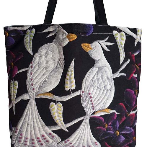 LOVE BIRDS CANVAS TOTE BAG