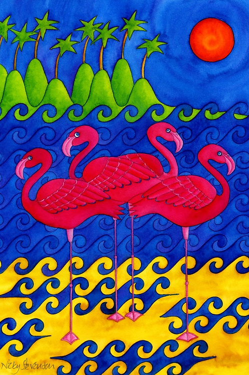 FLAMINGOS CHILL OUT