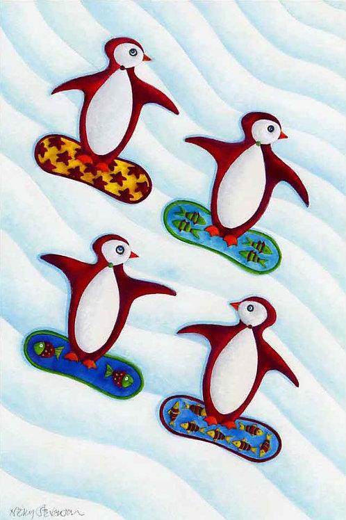 PENGUINS SNOWBOARD