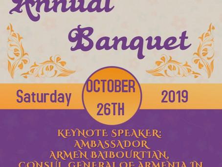 Annual Church Banquet: Saturday, Oct. 26