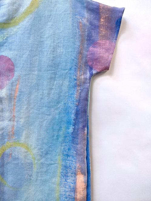 Watercolor series on 100% hemp-sm/med
