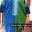Thumbnail: Mexico huipil + African indigo textile tun dress with pockets (XL)