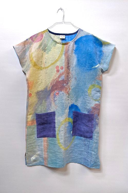 Watercolor series on 100% hemp.  see measurements