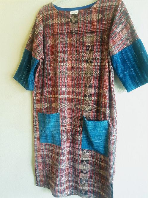 Guatemalan corte  textile tunic dress- 2 available