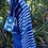 Thumbnail: Unique handloomed indigo cloth with patchwork- see measurements