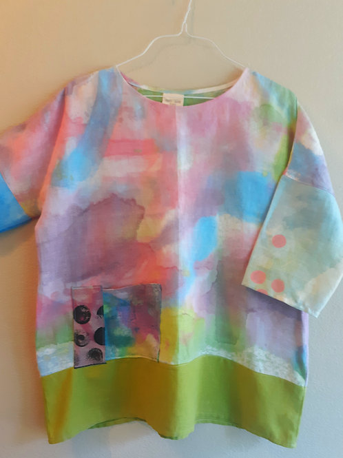 Watercolor series tunic med/large. See measurements