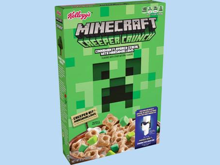 Minecraft Creeper Crunch Cereal