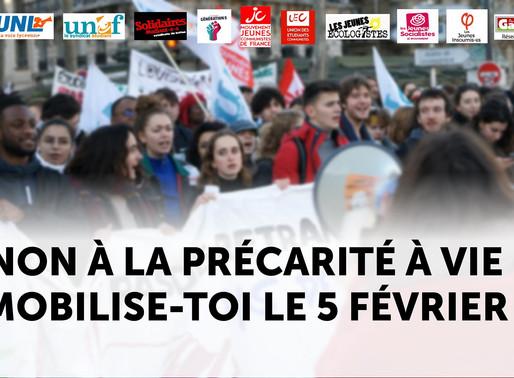 5 février : Les jeunes uni.e.s contre la réforme des retraites !