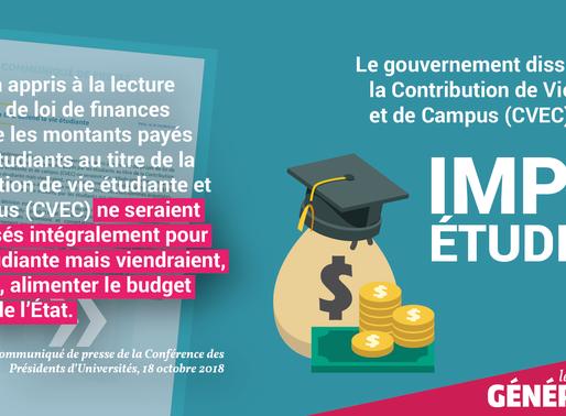 Le Gouvernement a créé un nouvel impôt étudiant