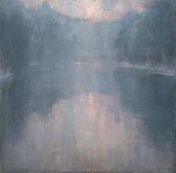 Rivière en mars, 30x30