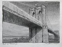 Le pont de Brooklyne 5x7