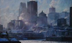 Les bleus de Montréal 30x50