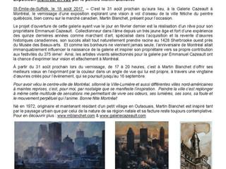 Montréal en vue chez Cazeault