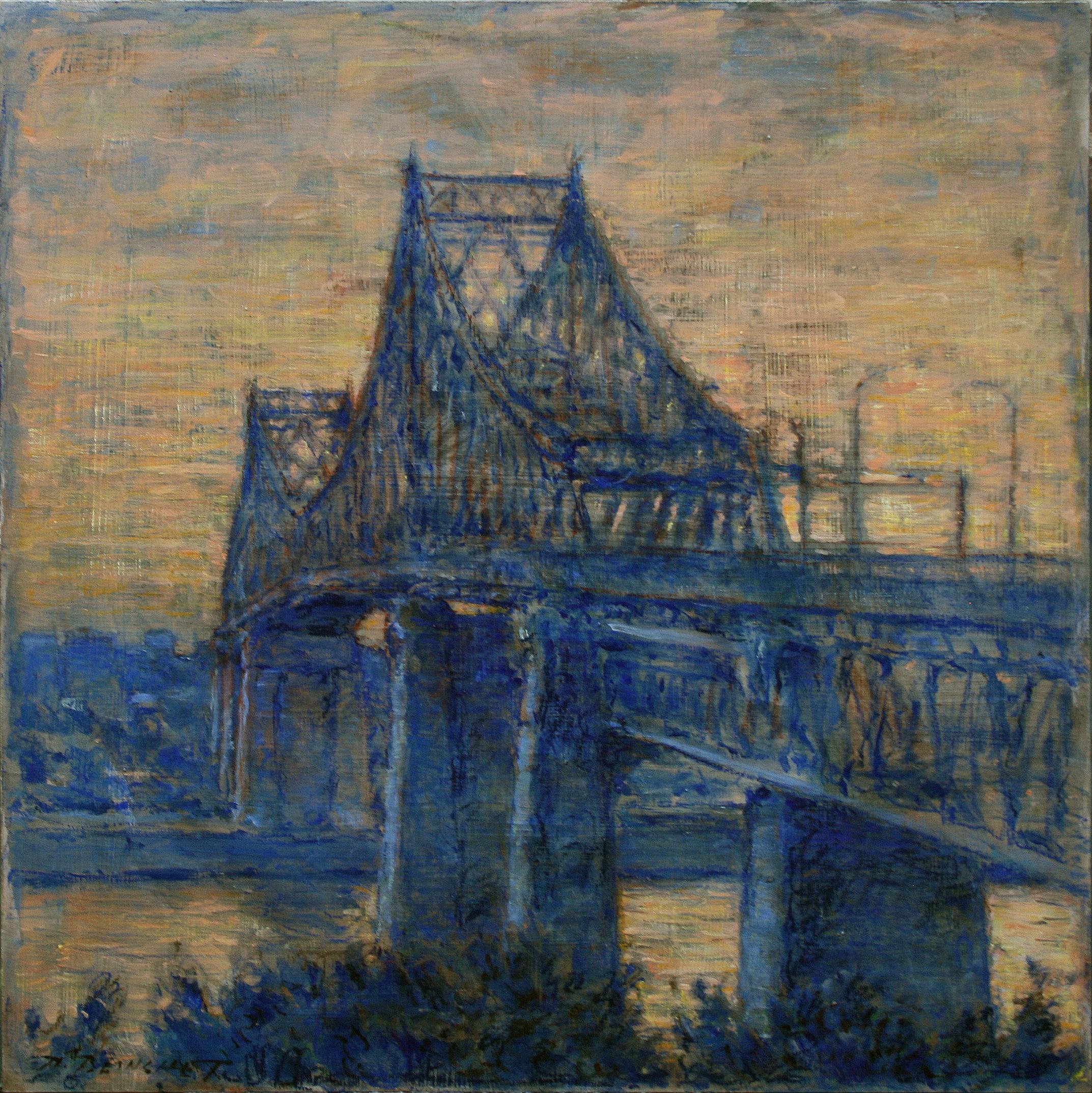 Pont Jacques Cartier fin du jour 24x24