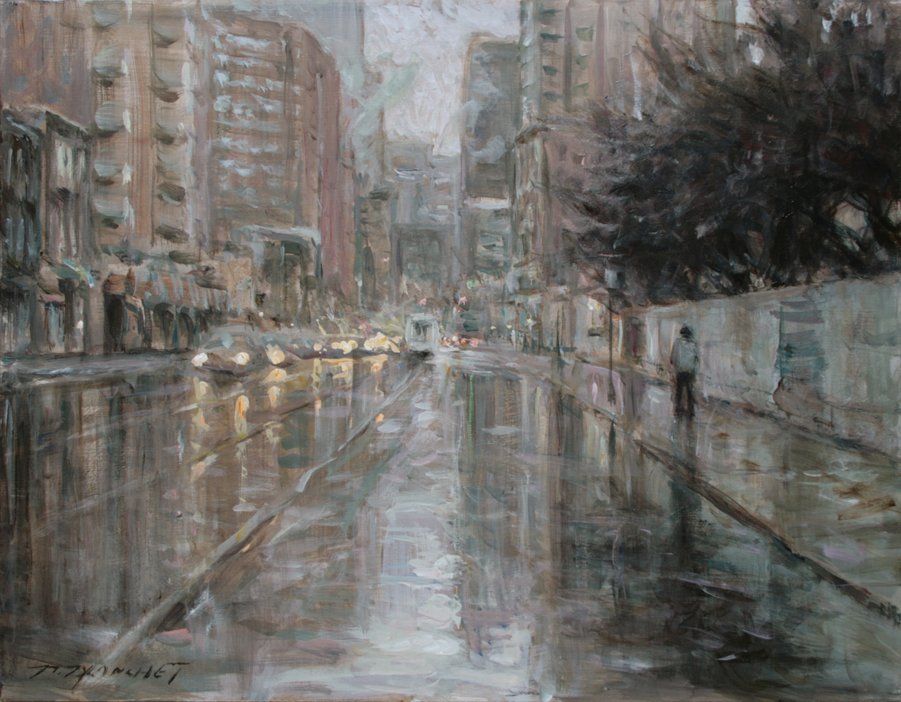 Rainy day Toronto, 14x18