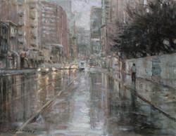 Rainy day Toronto, 14x18