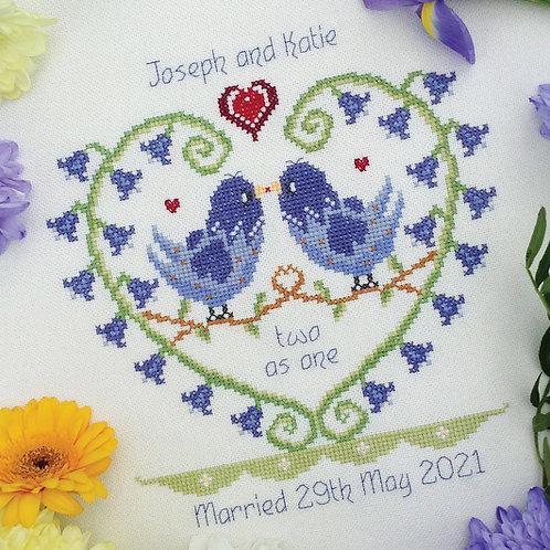 C209 Bluebell Heart