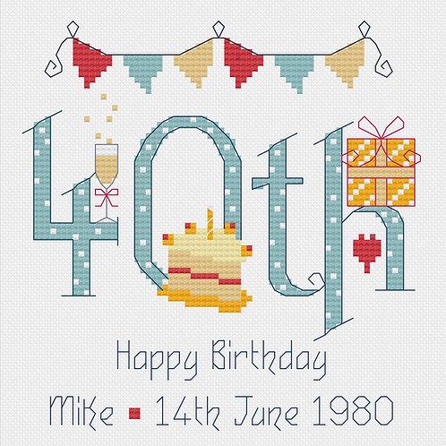 C154M   Male 40th Birthday