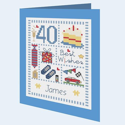 C222 Male Sampler Birthday Card