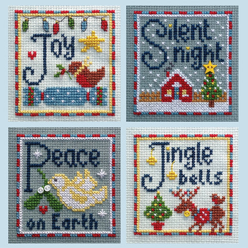 C205 Joy, Silent Night, Peace & Jingle Bells Cards