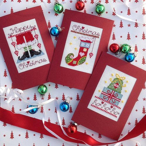 C132 Pack B - Santa, Gift and Stocking