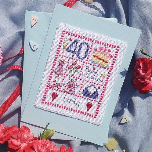 C116 Female Sampler Birthday Card