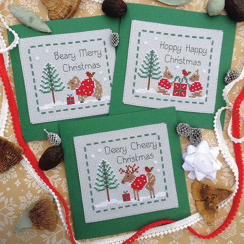 C219 Woodland Friends Christmas Cards