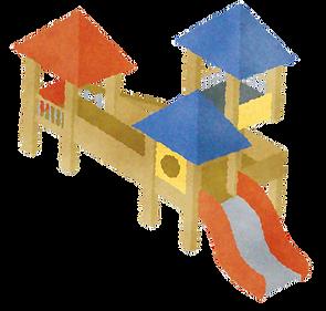 美園おひさま保育園:屋外遊具イラスト