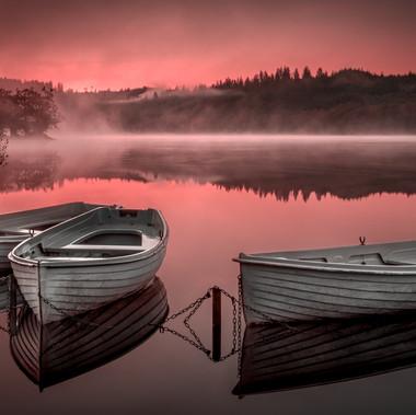Loch Achray Sunrise by Angela Hill