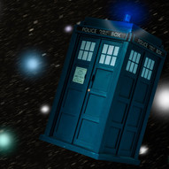 Tardis through space by G.Robertson - 1st