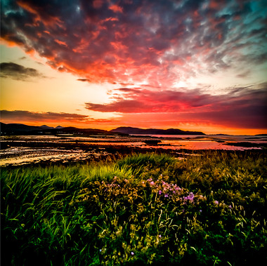 Sunset On The Beach by Graham Robertson