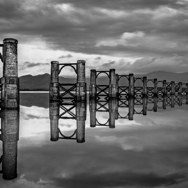 Alloa Old Swing Bridge by Angela Hill