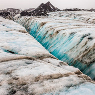Glacier In Blue by Barry Wright