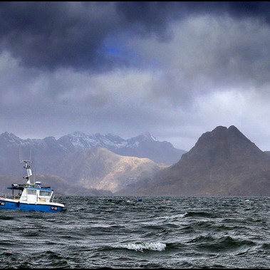 Stormy Mooring by Donald Parsons